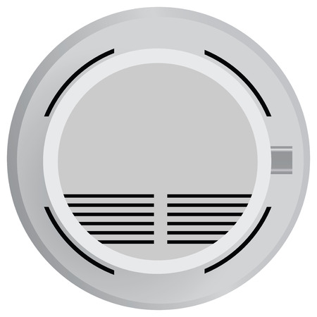 Smoke detector in fire safety. Vector illustration. Vector