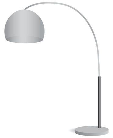 frosted: Table lamp with a round frosted lampshade. Vector illustration. Illustration