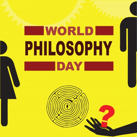 Poster for World Philosophy Day. Vector illustration.