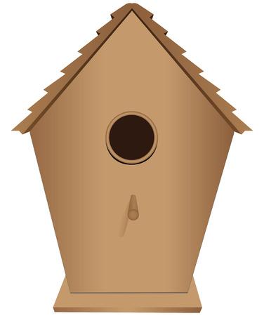 Houses for birds out of wood. Vector illustration. Ilustração