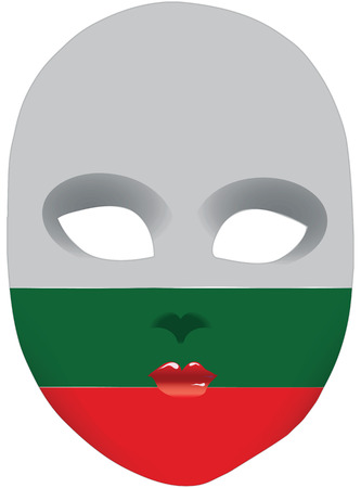 Classic mask with symbols of statehood of Bulgaria. Vector illustration