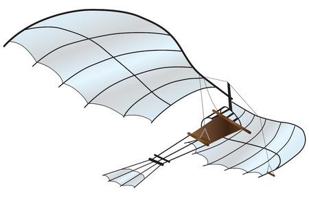 modern aircraft. Vector illustration.
