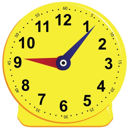 Game clock for children, teaching the subject. Vector illustration. Vector