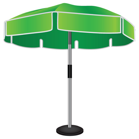 cartoon umbrella: Large industrial umbrella on a steel rack. Vector drawing. Illustration