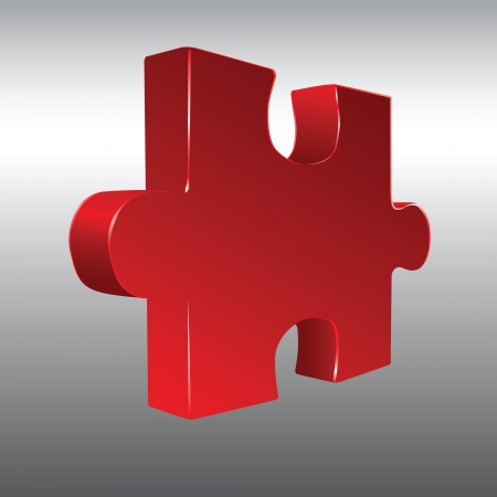 The volume figure for constructing puzzles. Vector illustration.