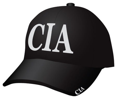 Cap Employees of the Central Intelligence Agency. Vector illustration.