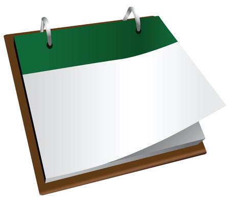 Office calendar with tear-off sheets. Vector illustration. Illustration
