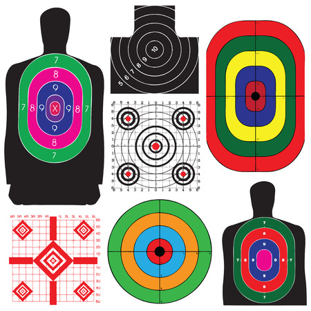 A professional set targets for training. Vector illustration. Stock Vector - 22870176