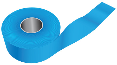 dielectric: Blue industrial tape for painting work. Vector illustration.