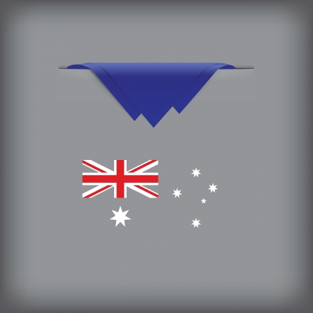 token: State symbols and colors of the flag of Australia. Vector illustration.