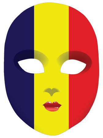 Classic mask with symbols of statehood of Chad. Vector illustration