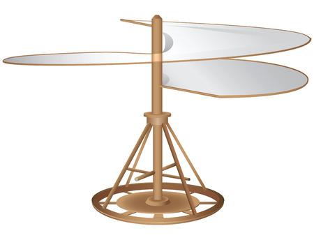 Het prototype type vliegtuig helikopter. Vector illustratie. Stock Illustratie