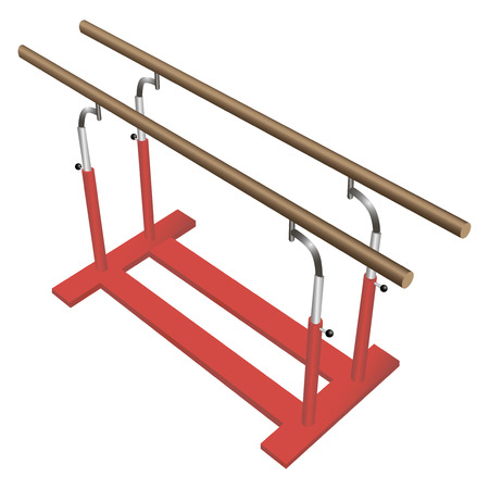 Parallel bars for gymnastic sports. Vector illustration.