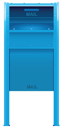Steel box to send mail. Vector illustration.
