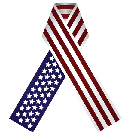 Memorial Ribbon United States of America. Use the traditional colors of the flag. Vector illustration. Vector