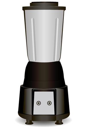 juicer: Modern blender for juicing and blending foods. Vector illustration. Illustration