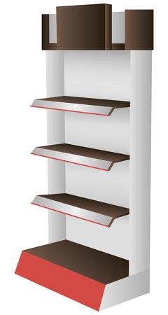 retail display: Designer shopping shelving for exhibitions. Vector illustration.