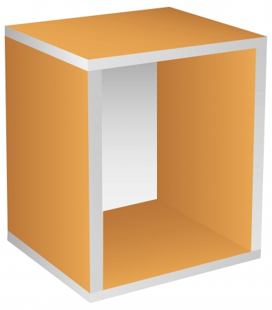 prefabricated: Base section of prefabricated storage. Vector illustration.