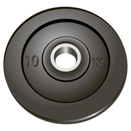 dumbell: I pesi dell'asta usato come rimovibile. Illustrazione di vettore.