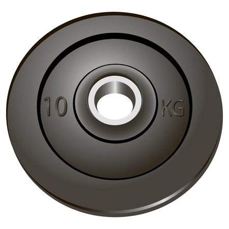 The weights of the rod used as a removable. Vector illustration. Ilustração
