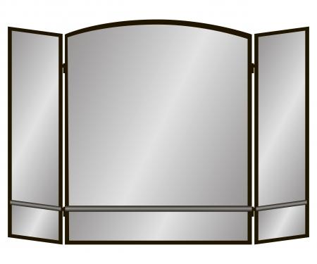 Drie Pane boog-scherm met twee regels voor de open haard Vector illustratie