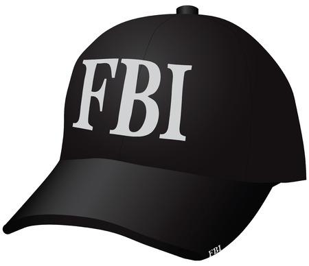 bureau: Uniforms for the employee of the Federal Bureau of Investigation - a baseball cap. Vector illustration. Illustration