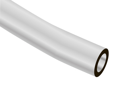 A slice of pure vinyl tubes for industrial applications. Vector illustration. Illustration