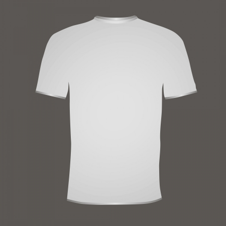 White T-shirt with short sleeves. Vector illustration.