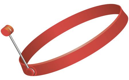 Anneau de silicone pour la cuisson des oeufs brouillés et des crêpes. Vector illustration. Banque d'images - 23902471