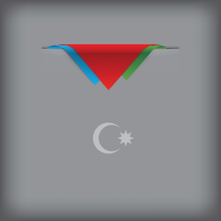 token: State symbols and colors of the flag of Azerbaijan Vector illustration. Illustration