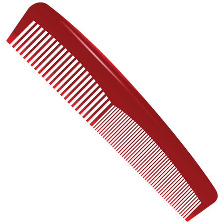 Comb with a different tooth pitch. Vector illustration.