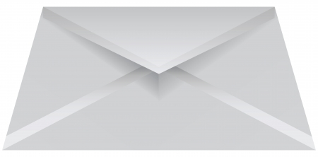 Open a standard envelope for mailing. Vector illustration.