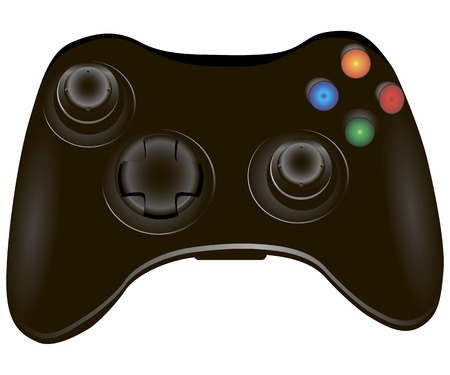 Video game controller, joystick for video games. Vector illustration. Ilustração