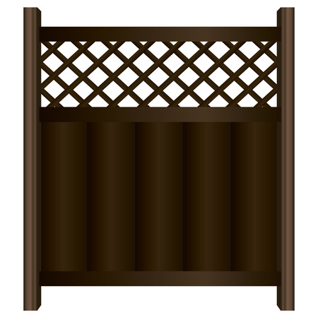 timbered: Vector illustration of a wooden fence sections. Illustration