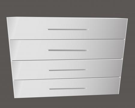 шпон: Классический бельевой шкаф для спальни. Векторная иллюстрация. Иллюстрация