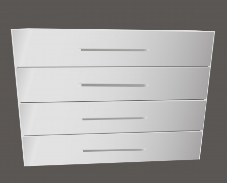 tallboy: Classic linen closet for the bedrooms. Vector illustration.