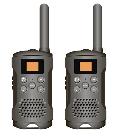 telephone mast: Set of walkie-talkies for industrial use. Vector illustration.