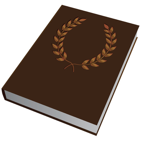 hard cover: Book with a slot in the cover to the first page. Vector illustration. Illustration