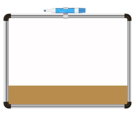 Office du tableau avec un crayon de couleur pour les notes. Vector illustration. Vecteurs