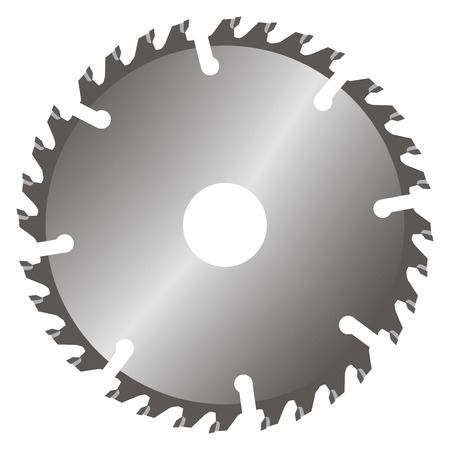 blade: Replacement blade for circular saws. Vector illustration.