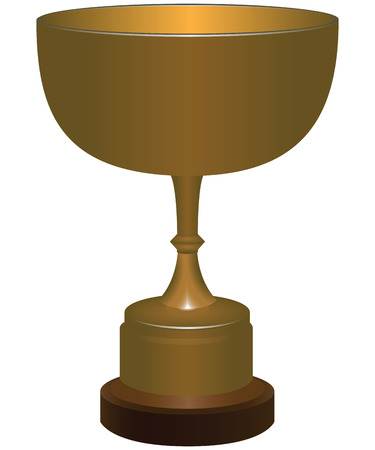 Sports trophy in the form of a cup. Vector illustration. Vector