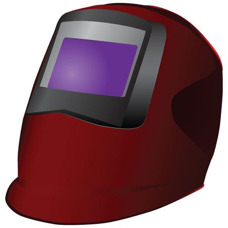 Modern Welding mask to protect the face. Vector illustration. Illusztráció