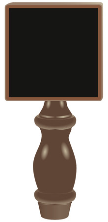 Dry erase tap board Beer Tap Handle. Vector illustration.