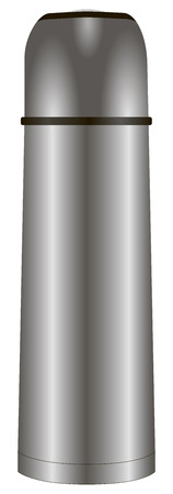 individually: Modern and individually steel thermos for drinks. Vector illustration.