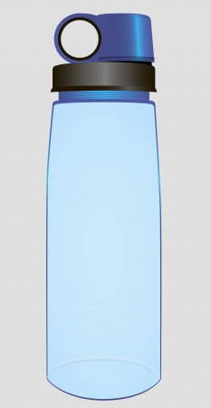 Plastic bottle of water to meet the thirst during sporting activities. Vector illustration.