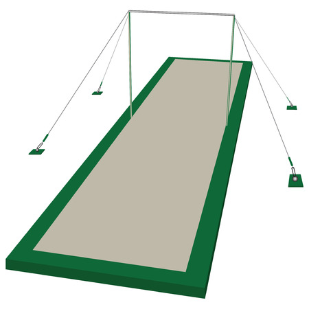 competitions: Barra horizontal de gimnasia para las competiciones profesionales. la ilustraci�n.