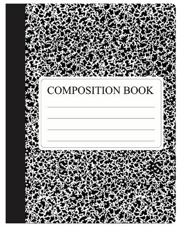 Traditionele werkboek voor studie en werk in dichte dekking. Vector illustratie.