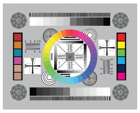 Test scale for setting up and testing the lens on the camera. Vector illustration. Stock Vector - 25250884