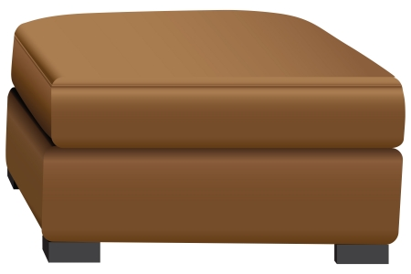 postmodern: Addl section for the sleeper sofa in leather. Vector illustration.