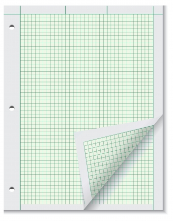 Block of paper for engineering calculations. Vector illustration. Vector